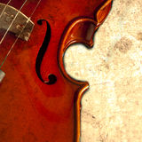 Violin Music. Classical Violin Music on grunge background Royalty Free Stock Photos