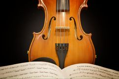 Violin with music Royalty Free Stock Photography