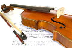 Violin and Music Royalty Free Stock Images
