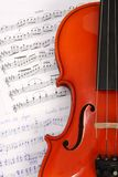 Violin on music book Royalty Free Stock Photo