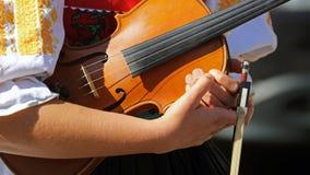 Violin music , Cicmany , Slovakia Royalty Free Stock Photography