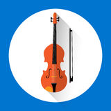 Violin Music Instrument Icon. Flat Vector Illustration Stock Photography