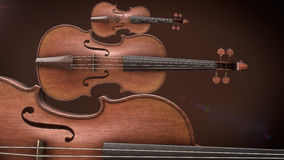 Violin music instrument. Of orchestra closeup 3D rendering Stock Photo