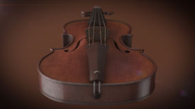 Violin music instrument. Of orchestra closeup 3D rendering Royalty Free Stock Images