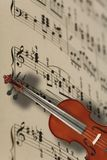 Violin and music  notes Stock Photography