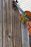 Violin on music paper Stock Photography