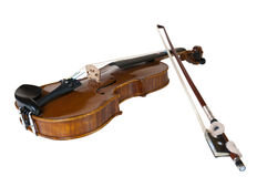 Violin for music school. Wooden classic violin prepared for children to learn playing this instrument Royalty Free Stock Images