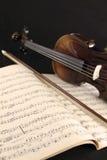 Violin and music sheet Stock Photos