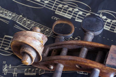 Violin and music sheet Stock Image
