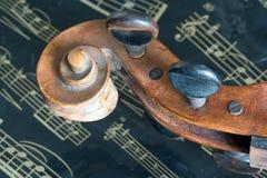 Violin and music sheet Royalty Free Stock Image