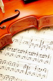 Violin with music sheet Royalty Free Stock Images