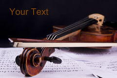 Violin music string art instrument bow Stock Image
