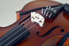 Violin music wooden instrument. Violin music wooden instrument with metal strings Stock Image