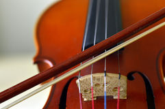 Violin music wooden instrument. Violin music wooden instrument with metal strings Royalty Free Stock Photography