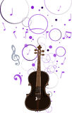 Violin and musical background illustration Royalty Free Stock Images