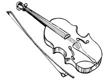 Violin, musical instrument Stock Photos