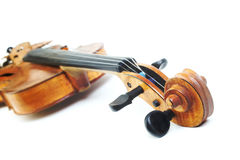 Violin musical instrument head Stock Photos
