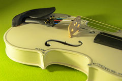Violin, musical instrument. Lying on green velvet, no people Stock Photography