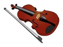Violin, musical instrument. Vector illustration of violin, musical instrument Stock Photo
