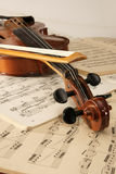 Violin and musical notes. As still life Royalty Free Stock Photos