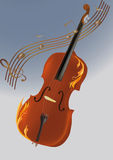 violin, musical notes Stock Photo