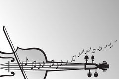 Violin and musical notes Royalty Free Stock Images