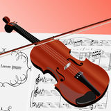 The violin with musical notes Stock Image