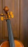 Violin Neck Stock Photo