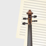 Violin neck Royalty Free Stock Photo