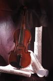 Violin and note Stock Image