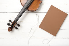 Violin notebook and Royalty Free Stock Images