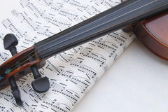 Violin notes Stock Photos