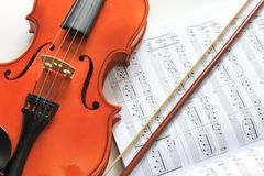 Violin and notes Royalty Free Stock Image