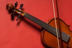 Violin. Old broken violin detailed shot Stock Photography