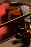 Violin. Old broken violin detailed shot Royalty Free Stock Images