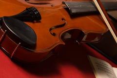 Violin. Old broken violin detailed shot Royalty Free Stock Photos