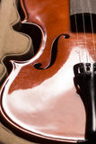 Violin. Old broken violin detailed shot Stock Photos
