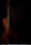 Violin. Old broken violin detailed shot Stock Photo