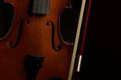 Violin. Old broken violin detailed shot Royalty Free Stock Image