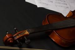 Violin. Old broken violin detailed shot Royalty Free Stock Photography
