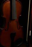 Violin. Old broken violin detailed shot Stock Image