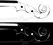 Violin On White And On A Black Background Royalty Free Stock Image