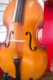 Violin orchestra musical instrument in the shop Stock Photography