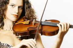 Violin orchestra player. Classical musician violinist playing music Royalty Free Stock Image