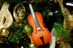 Violin Ornament Royalty Free Stock Photos