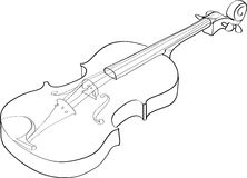 Violin royalty free illustration