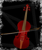 Violin over black Stock Photography