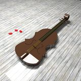 Violin over floor Royalty Free Stock Image
