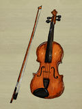 Violin Painting Image. Music background Stock Images