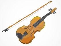 Violin Painting Vector art Royalty Free Stock Photos